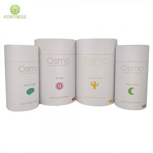 Wholesale Cheap Custom Cylinder Round Box Packaging For Supplement capsules/supplement sachet/Chewable tablets