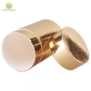 small gold luxury cardboard cosmetics carton packaging cylinder tubes makeup boxes