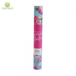 Handmade paper tube custom colorful logo printed luxury gift packaging cardboard box