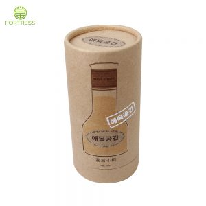 Biodegradable brown kraft paper tube container 30ml 50ml 100ml lady perfume bottle packaing box