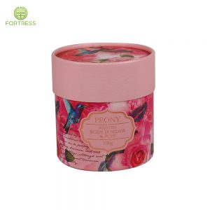 OEM full color printed hard cardboard cosmetic body powder packaging tube in ShenZhen