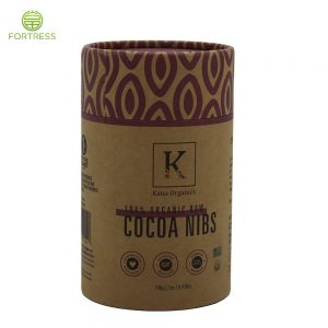 Factory price biodegradable paper packaging cardboard Coffee round kraft paper tube box