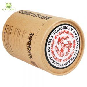 Custom food paper tube packaging Tea paper package with PVC window