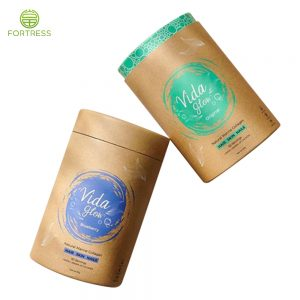 High quality new design Tea paper tube packaging with colorful inside printing