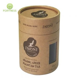High-quality Custom food paper tube packaging Tea paper package with Lid