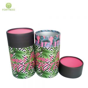 paper tube packaging food grade cardboard cylinder container for supplement round box packaging