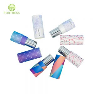 custom luxury recycle printed best quality lipstick tube container wholeasale from China