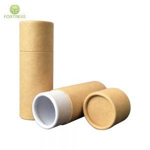 Natural brown kraft paper tube packaging for supplement/capsule/organic products