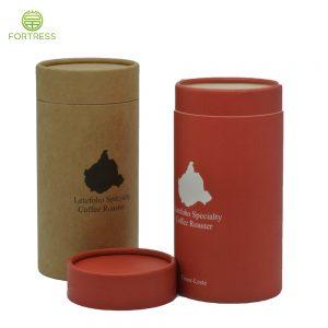 OEM Full Color Printed Coffee Kraft paper tube Food Grade Paper Box In China
