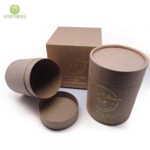 Macaron Customized Fancy Kraft Paper Tubes with Logo Brand Printing