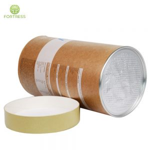 Green food collagen powder Air tight paper tube packaging