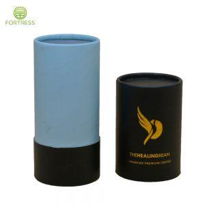 OEM Full Color Printed Cardboard Tube Box Food Grade Coffee bean Paper Box In China