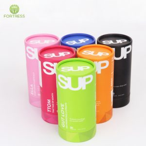 Customized printed paper tubepackaging for supplement