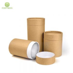 100% biodegradable natural kraft paper tube box for CBD bottle