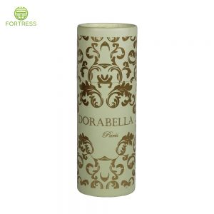 Luxurious design stamping paper box cylinder with rolled edge custom tube