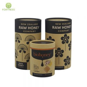 Wholesale Candy Honey Paper Box Gift Package Biodegradable Kraft Paper Tube