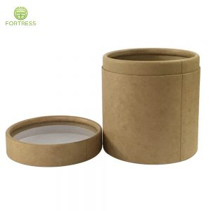 Natural Kraft Paper Material Food Paper Tubes with Transparent PVC Window
