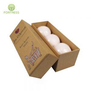Custom Bath Bomb craft paper Soap Packaging Box