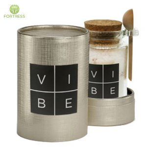 Luxury cosmetic packing tube printing for cosmetic cardboard tube with bath salt