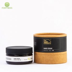 Customized recyclable cardboard box paper tube packaging for face cream jar