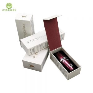 Wholesale customized logo printed rigid cardboard paper box Lid hinge base box for cosmetics skin care