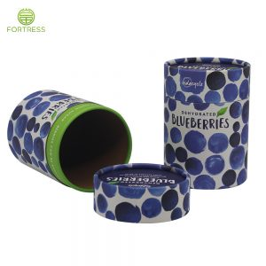 Kraft Paper Tube Packaging Cardboard Paper Can for Food Packaging Dried Fruit cylinder Tube with Packages