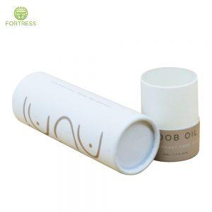 Luxury custom cosmetic box essential oil paper tube packaging