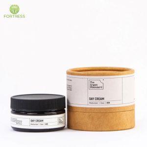 Custom printed cardboard face cream jar box paper packaging tube
