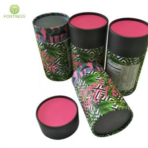 Full Printing Paper tubes and Cores/Cylinder Paper packaging with Aluminum Foil Layer for Pea