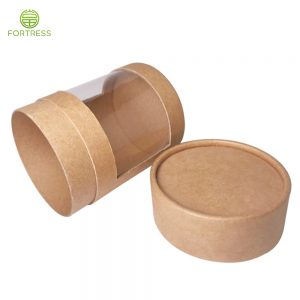 Wholesale Paper Materials with PVC Window Paper Tubes for Candy Confection Paper Tubes