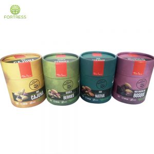 Biodegradable Food Packaging Kraft Cardboard Mix Nuts Paper Tube with Full Printing
