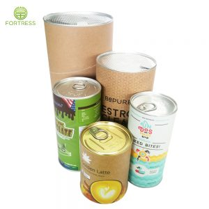 Different Sizes Eco Friendly Food Grade Custom Airtight Cylinder Packaging Tube with Snap Lid