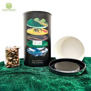 Biodegradable kraft paper coffee bean box tube packaging
