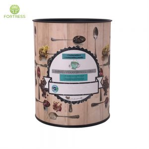 High-quality new design Loose Leaf Tea paper packaging with metal lid
